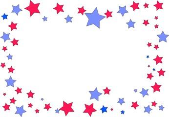 celebration frame ,colored stars