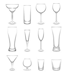 Set of alcohol glasses.