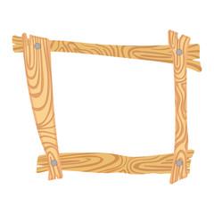 Wooden cartoon frame