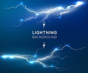 New lightning flash strike background