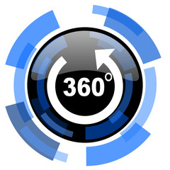 panorama black blue glossy web icon