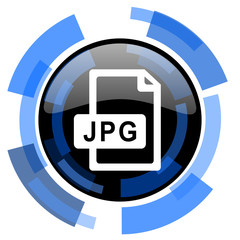 jpg file black blue glossy web icon