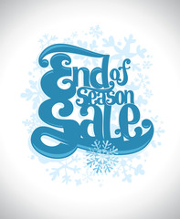 End of season sale winter design.