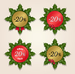 Christmas Sale 20% - Mistletoe Labels