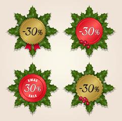 Christmas Sale 30% - Mistletoe Labels