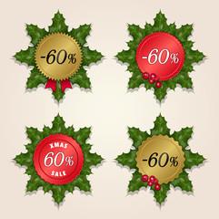 Christmas Sale 60% - Mistletoe Labels