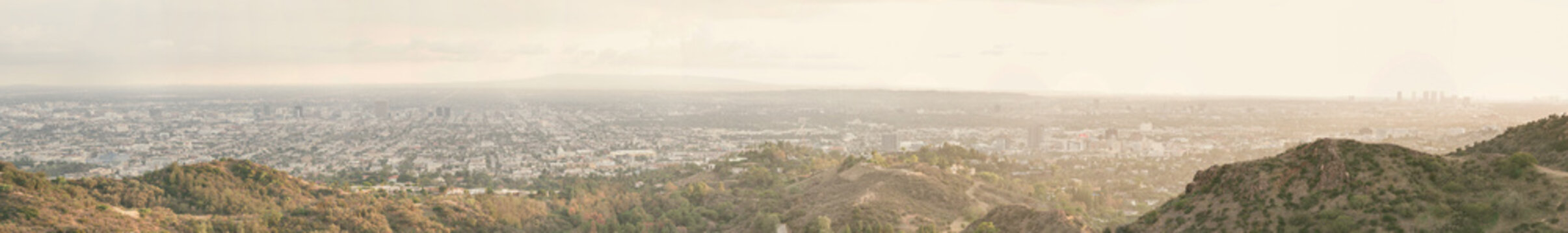 Panoramic view of Los angeles city
