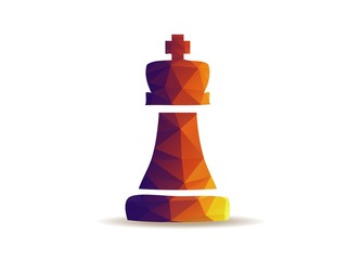 Chess king. board game.