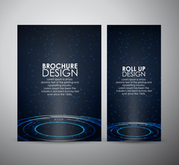 Brochure business design abstract Modern technology circles template or roll up.