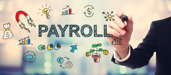 Businessman drawing Payroll concept