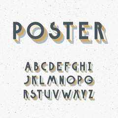 Deco poster typeface