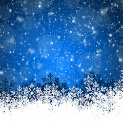 Blue Abstract beauty Christmas and New Year background