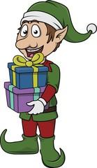 Elf bring gift pack
