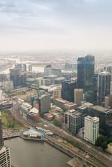 Beautiful aerial view of Melbourne skyline, Australia