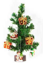 Christmas tree on isolated background