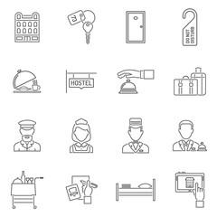 Hotel Icons Line Set