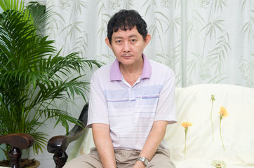 Mentally disabled Asian man