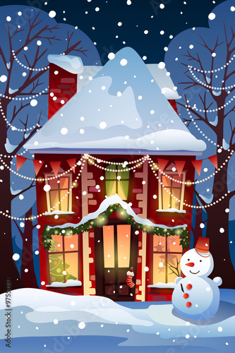 Christmas Winter Wonderland Template Christmas Background With