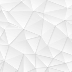 Polygonal abstract grey tech background
