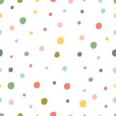 Seamless pattern, polka dot fabric, wallpaper, vector