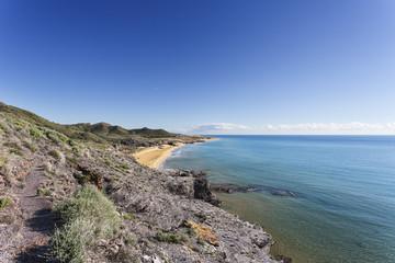 Mediterranean coast 14. Costa Cálida, Cartagena, Región de Murcia, Spain.
