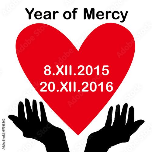 Catholic Year Of Mercy Symbol Stock Image And Royalty Free Vector