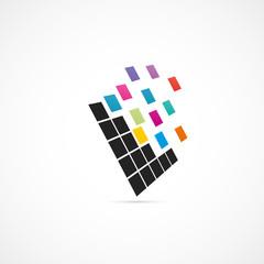 carré coloré,graphisme