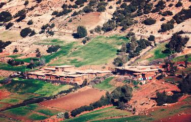 Mountain berber village In Atlas mountains, Morocco