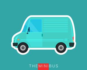 Mini van isolated