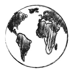 Hand drawn earth