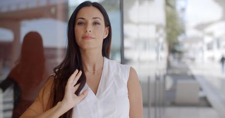 Beautiful Business Woman in White Shirt