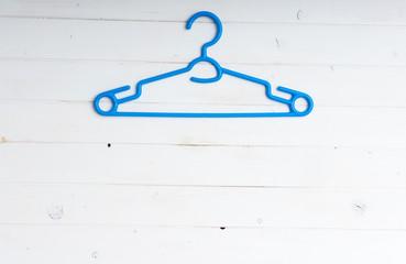 blue plastic clothes hanger