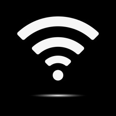 Wireless Icon, vector illustration. Flat design style. Wifi With Shadow