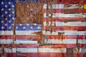 Corrugated Iron United States of America Flag
