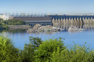 Dnieper hydroelectric station in Zaporozhye