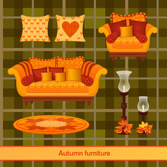 Great set of furniture in the autumn style