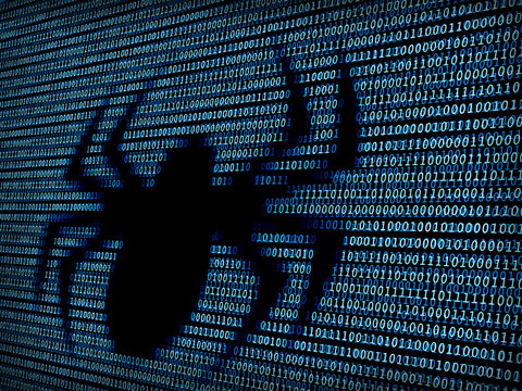 Spider in digital background / Concept of web crawler or web indexing