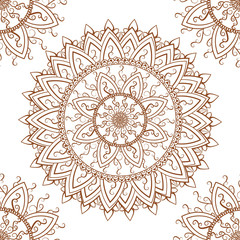 Round ornament seamless pattern