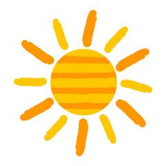 Sun painted vector