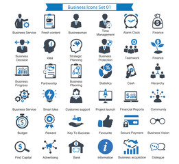 Business Icons Set 01