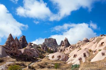 Unique geological formations in Cappadocia, Central Anatolia, Turkey