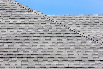Close up of new rubber roof tiles