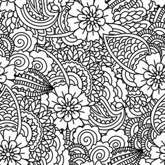 Seamless black and white pattern.