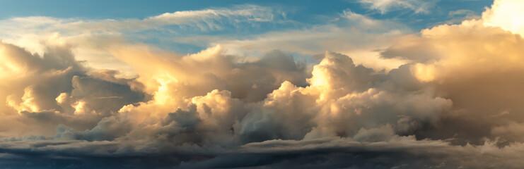 Canvas Prints Heaven Sunset on blue sky