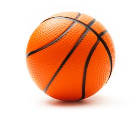 Basketball on white background
