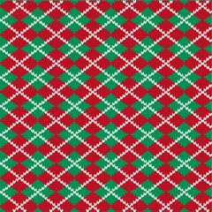 knit argyle pattern