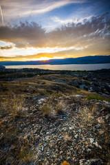 Summer Sunset in the Okanagan Valley and Lake Okanagan