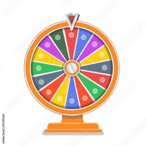 online wheel of fortune template - wheel of fortune flat design template im genes de