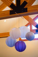 Grey and Purple Paper Lanterns
