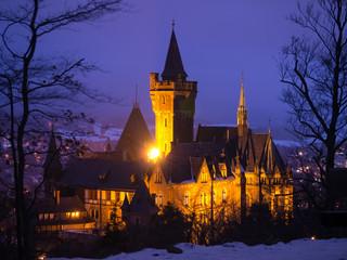 Schloss in Wernigerode am Abend